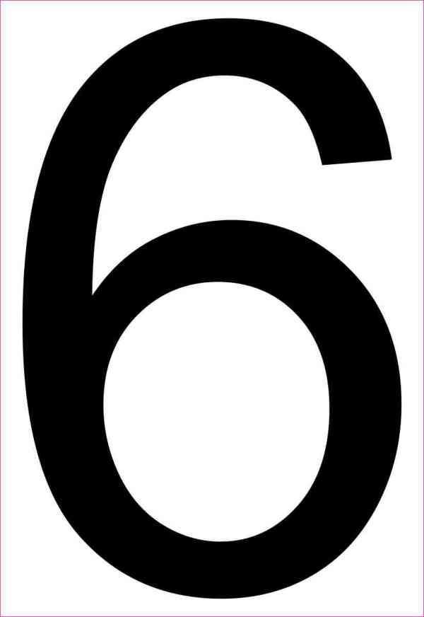 Address Number 6 Magnet