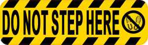 Symbol Do Not Step Here Sticker