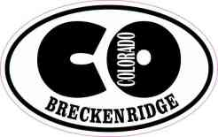 Oval CO Breckenridge Colorado Sticker