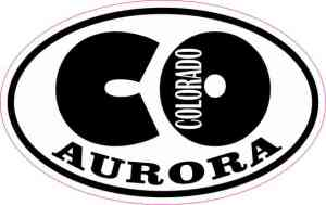 Oval CO Aurora Colorado Sticker