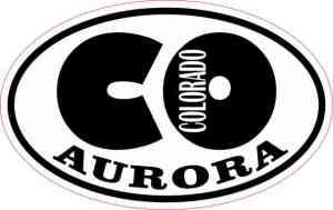 Oval CO Aurora Colorado Sticker