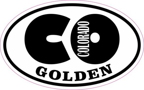 Oval CO Golden Colorado Sticker