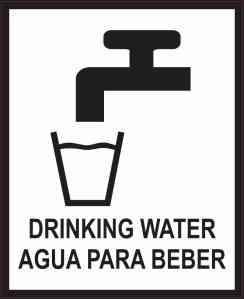 English Spanish Drinking Water Sticker
