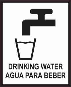 English Spanish Drinking Water Sticker