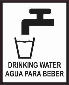 English Spanish Drinking Water Magnet
