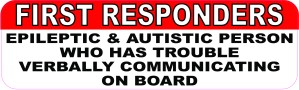 Epileptic and Autistic Person on Board Magnet