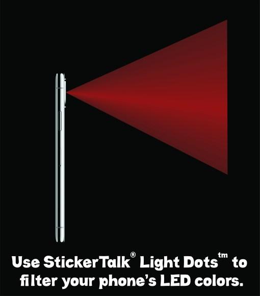 red light dots