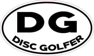 Oval DG Disc Golfer Sticker