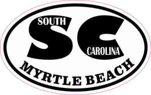 Oval SC Myrtle Beach Sticker