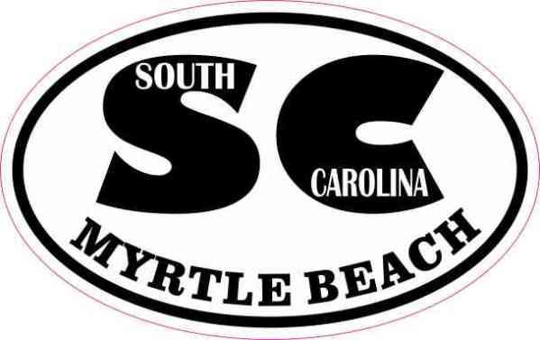 Oval SC Myrtle Beach Sticker