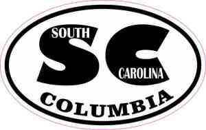 Oval SC Columbia South Carolina Sticker