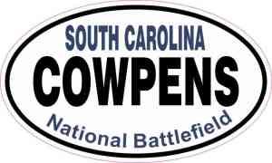 Oval Cowpens National Battlefield Sticker