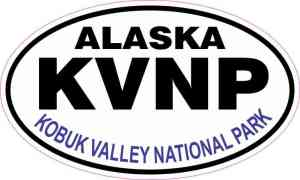 Oval Kobuk Valley National Park Sticker