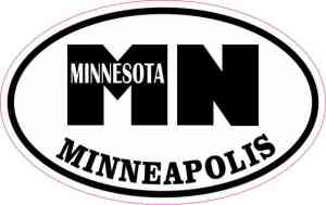 Oval MN Minneapolis Minnesota Sticker