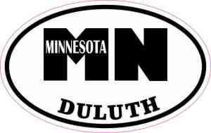Oval Duluth Minnesota Sticker
