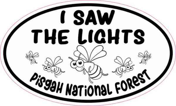 Oval I Saw the Lights Pisgah National Forest Sticker
