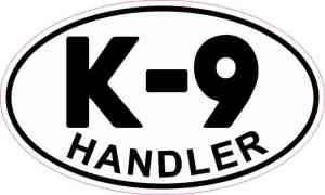 Oval K-9 Handler Sticker