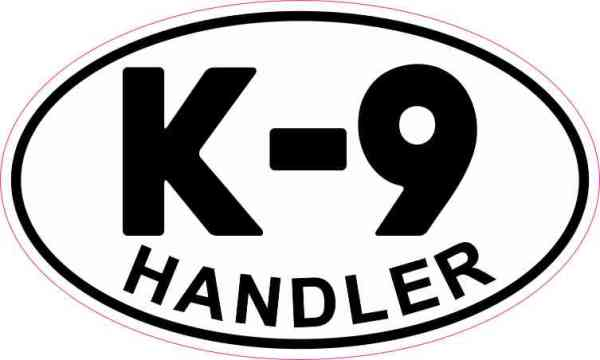 Oval K-9 Handler Sticker
