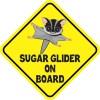Gray Sugar Glider on Board Sticker