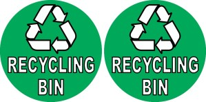 Recycling Bin Stickers