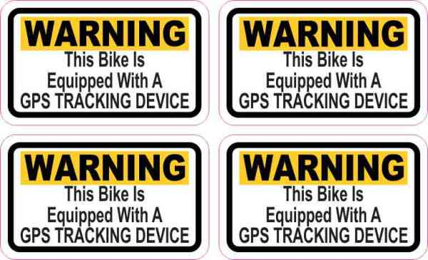 Bike GPS Tracking Stickers