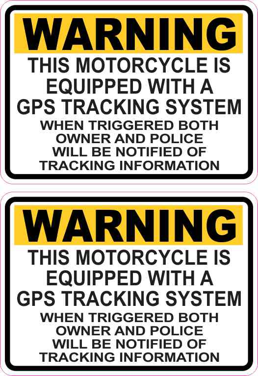 Motorcycle GPS Tracking System Sticker