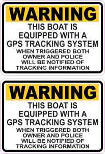 Boat GPS Tracking System Stickers