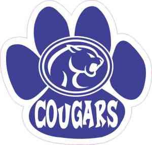 Mascot Emblem Cougar Paw Sticker