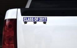 Blue Class of 2017 Bumper Sticker
