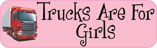 Trucks Are For Girls Magnet