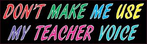 Teacher Voice Magnet