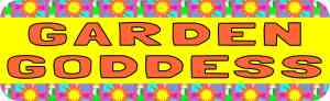 Garden Goddess Bumper Sticker