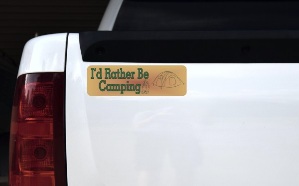 I'd Rather Be Camping Magnet