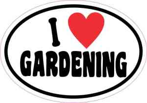 Oval I Love Gardening Sticker