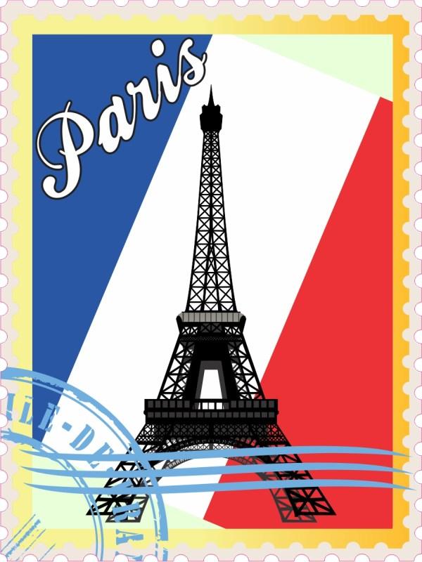 Paris Stamp Vinyl Sticker