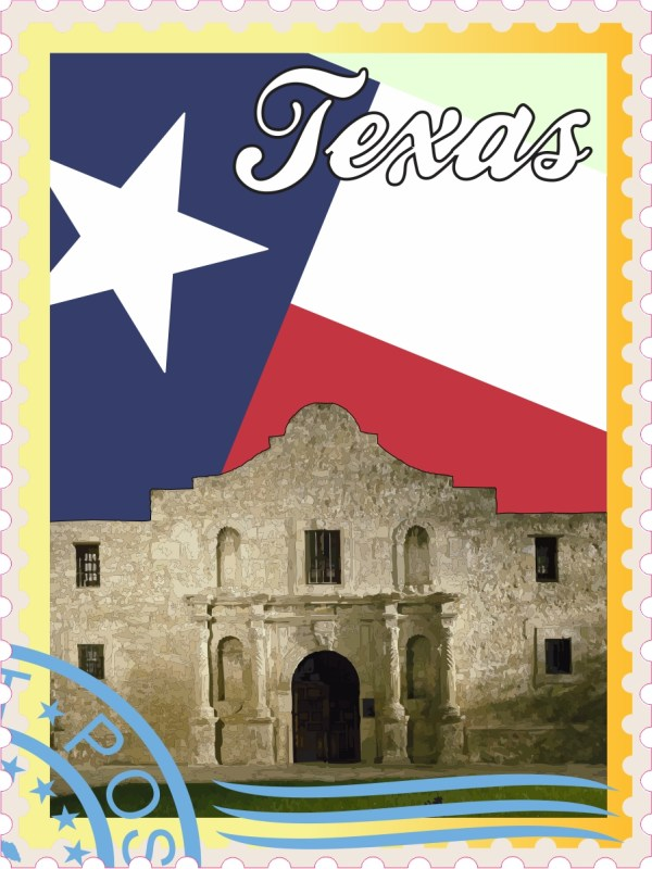 Texas Stamp Vinyl Sticker