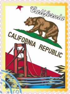 California Stamp Sticker