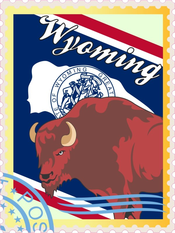Wyoming Stamp Vinyl Sticker