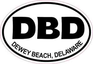 Oval DBD Dewey Beach Delaware Sticker