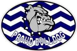 Chevron Proud Bulldog Vinyl Mascot Sticker