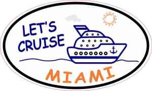 Cruise Ship Oval Miami Sticker