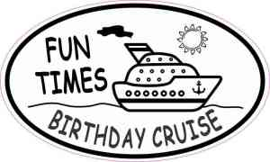 Oval Birthday Cruise Sticker