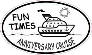 Oval Anniversary Cruise Sticker