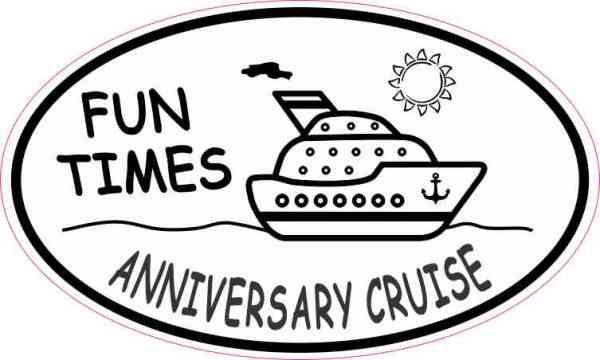 Oval Anniversary Cruise Sticker