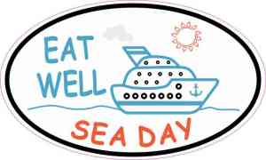 Cruise Ship Oval Sea Day Sticker