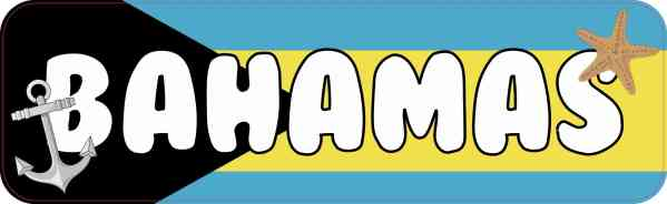 Bahamas Vinyl Sticker
