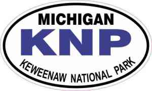 Oval Keweenaw National Park Vinyl Sticker