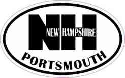 Oval NH Portsmouth Vinyl Sticker