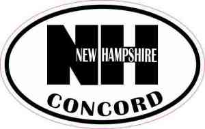 Oval NH Concord Vinyl Sticker