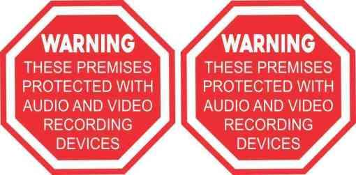 Audio and Video Recording Vinyl Stickers